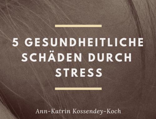 5 gesundheitliche Schäden durch Stress